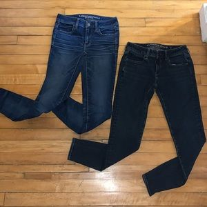 2 pairs of size 2 American Eagle jeggings jeans